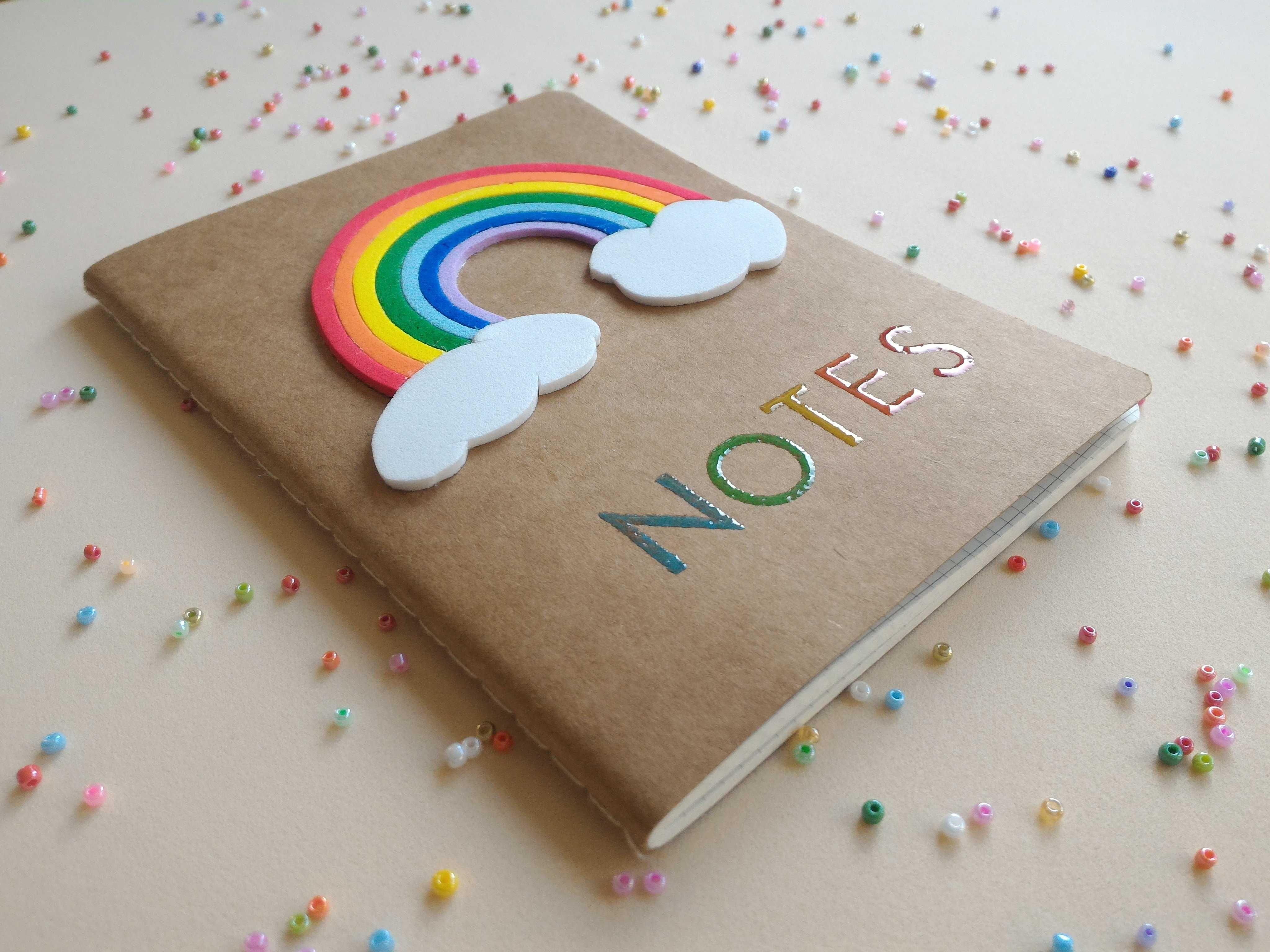 carnet rainbow projekty na vyzkou en pinterest rainbow diy a notebook. Black Bedroom Furniture Sets. Home Design Ideas