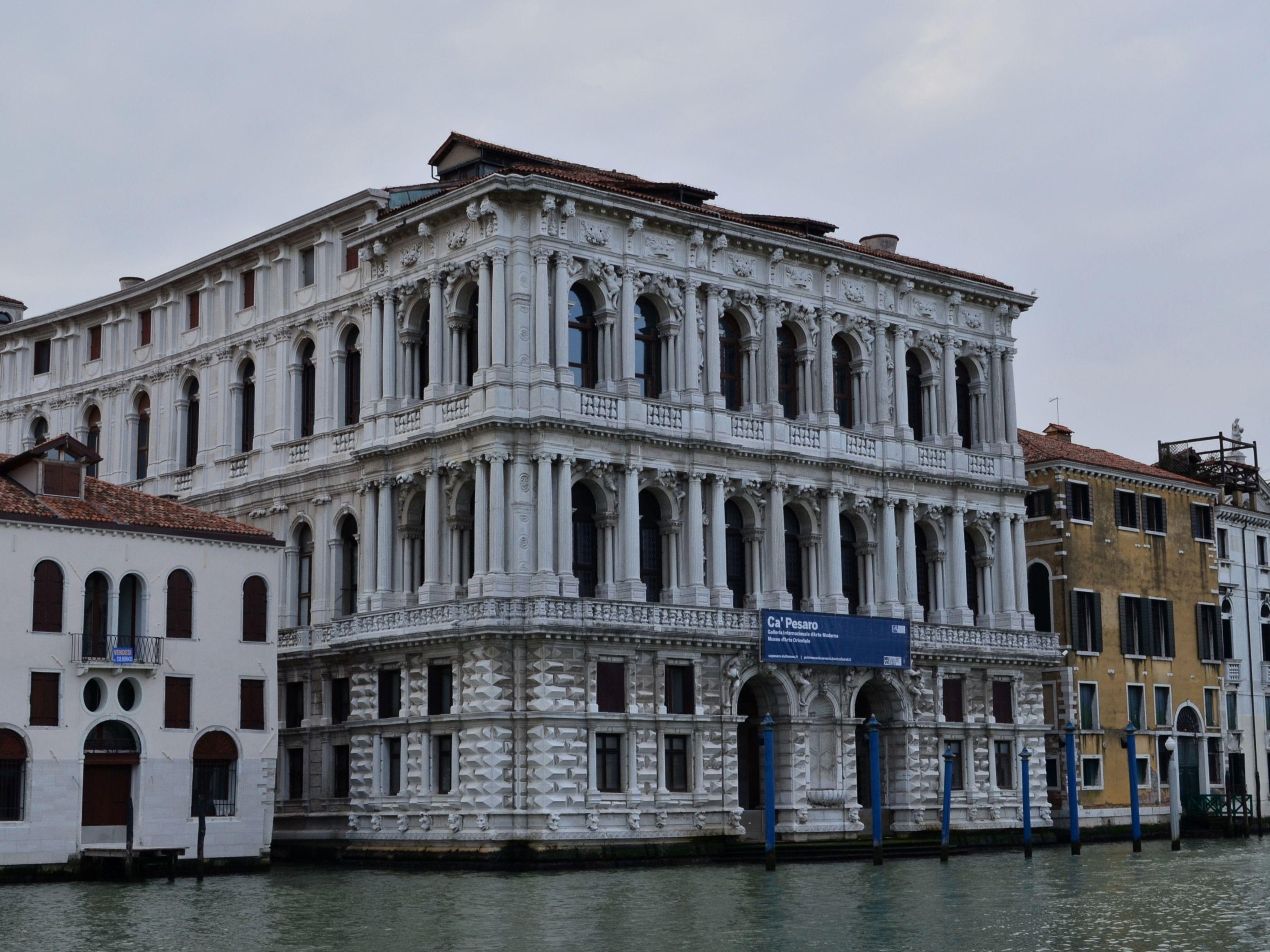 italian baroque architecture, venice; palazzo pesaro, begun 1676