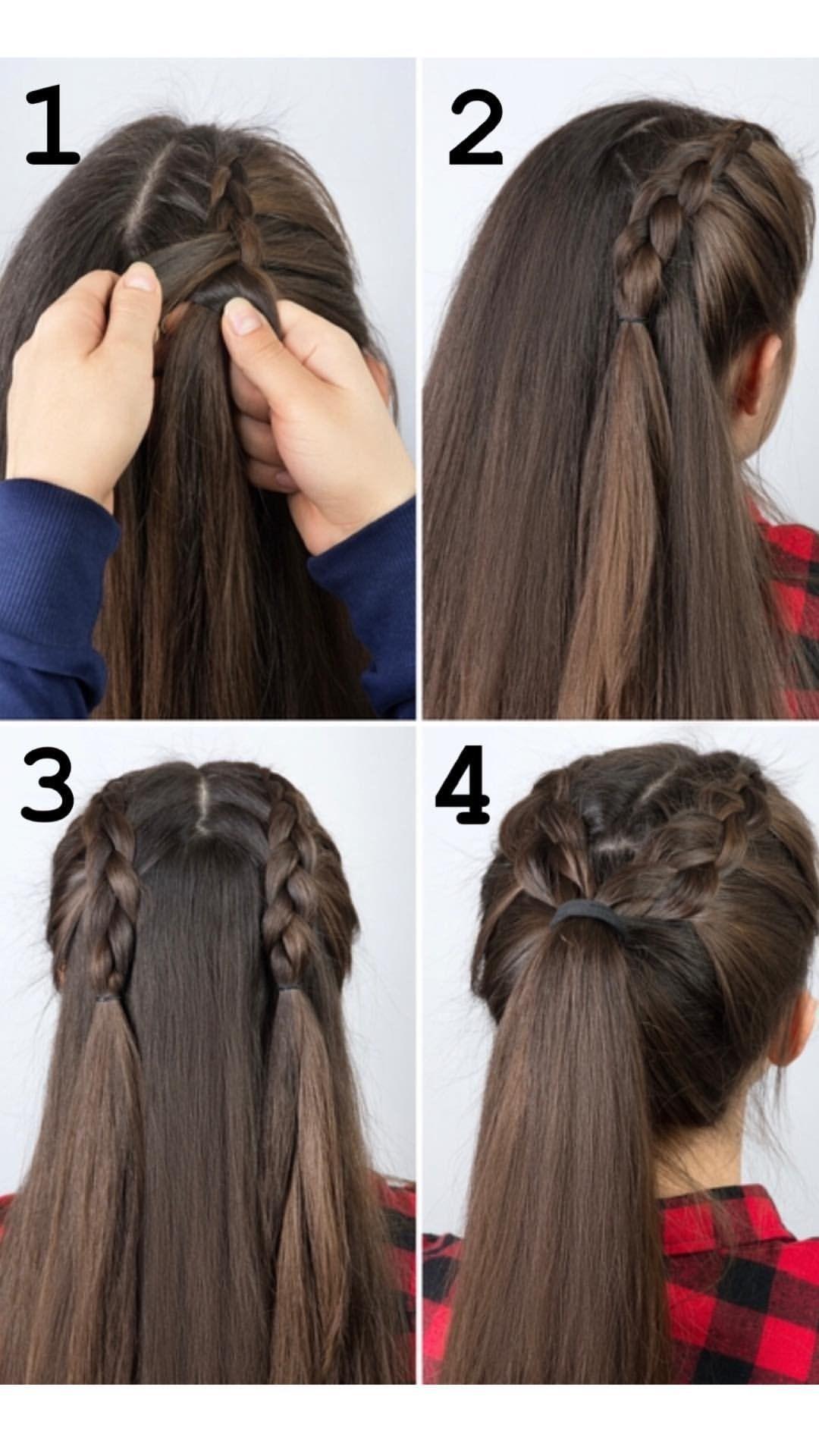 Peinados Paso A Paso Peinados Con Coleta Peinados Con Cabello Liso Peinados Con Trenzas Faciles