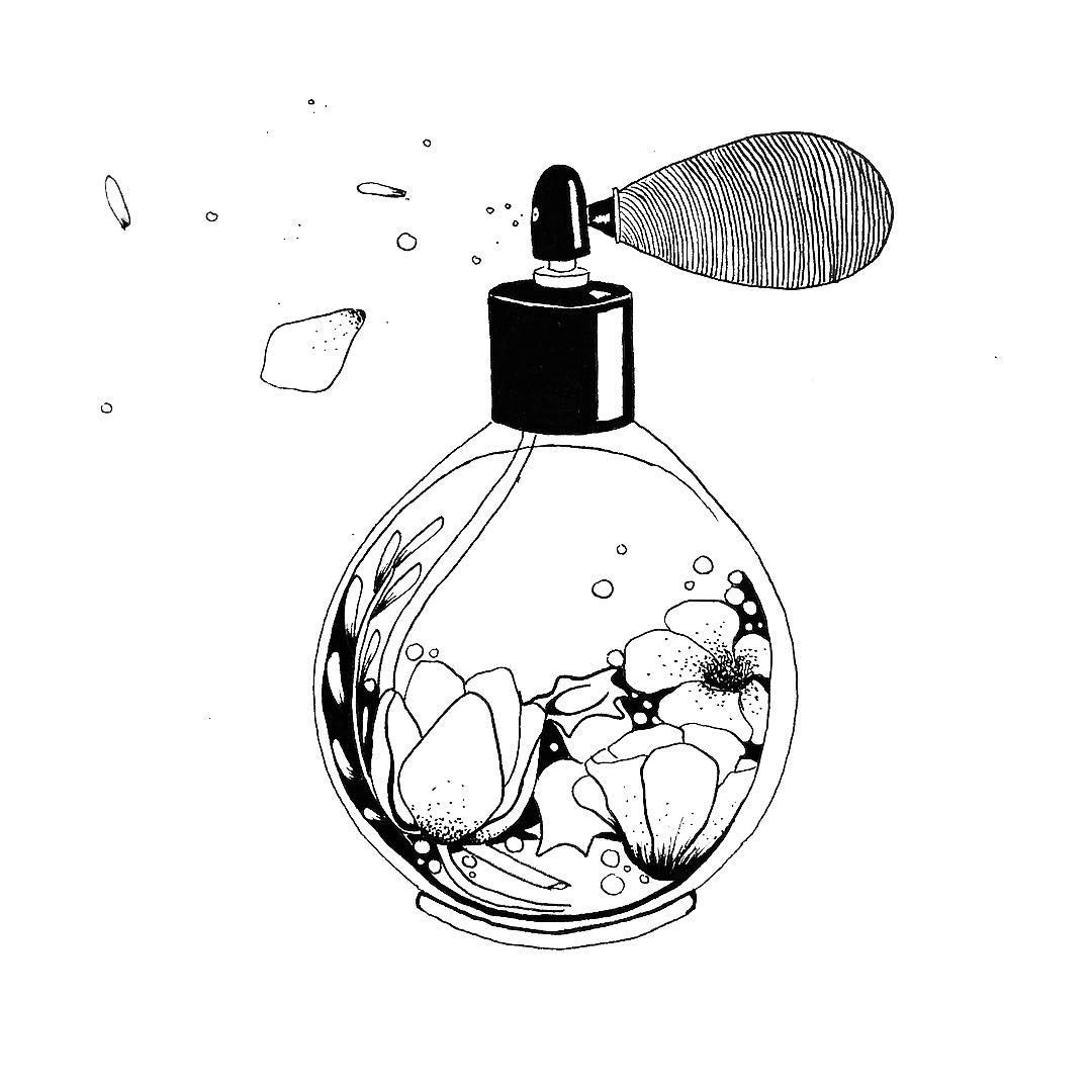 Luxury Style Floral Perfume Logo