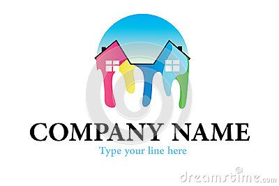 Home Painting House Beautiful Stock Ilrations Logos Paintings Houses Colour Homes Design