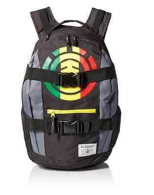 Element Backpack Bag Men's Laptop Skateboard Skate Strap Mohave Back Pack Rasta