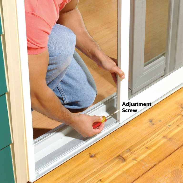 How To Adjust a Sticking Patio Screen Door Screen door