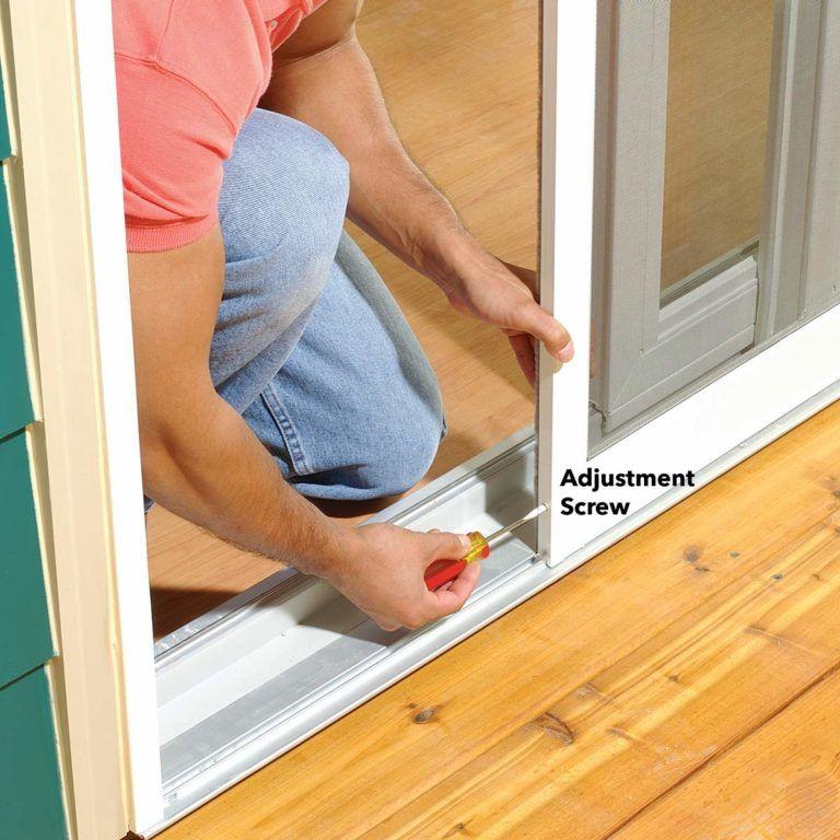 How to adjust a sticking patio screen door screen door