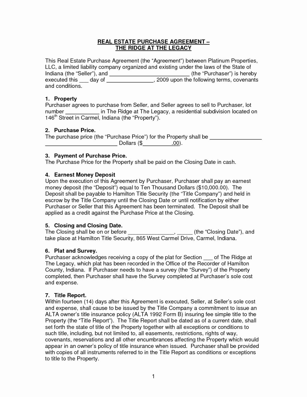 Free Real Estate Contract Template Lovely Basic Sale Purchase Agreement Contract Letter For Real Estate Contract Contract Template Purchase Agreement