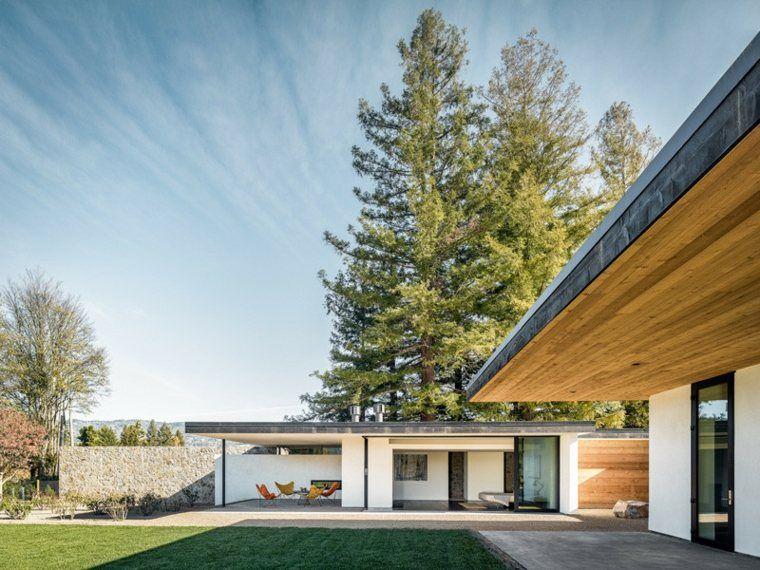 Architecture maison toit plat à Napa Valley Architecture