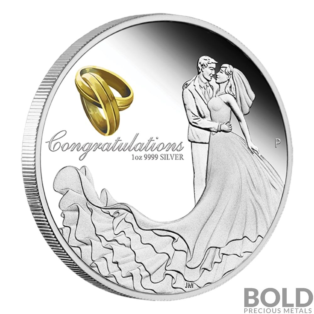 Australian Wedding Anniversary Gifts By Year: 2020 Australia Wedding Gift 1 Oz Silver Proof