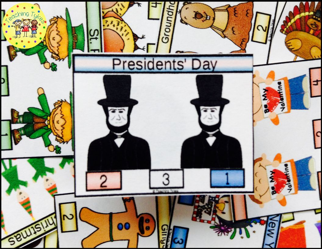 President S Day Activity To Practice Counting