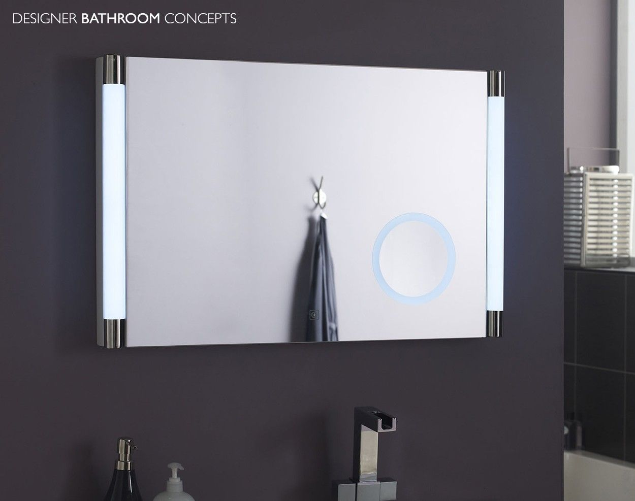 Illuminated magnifying mirrors for bathrooms bathroom decor