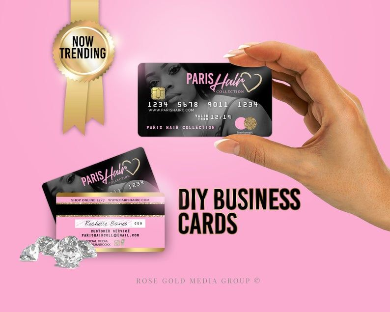 Credit Card Styled Business Card Pvc Cards Plastic Etsy In 2021 Plastic Business Cards Hair Business Cards Business Card Template Design