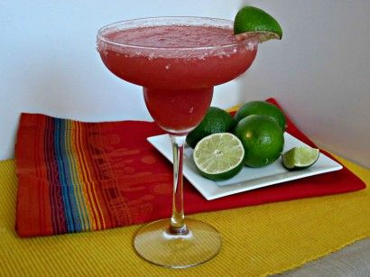 Frozen Watermelon Margarita....looks scrumptious!