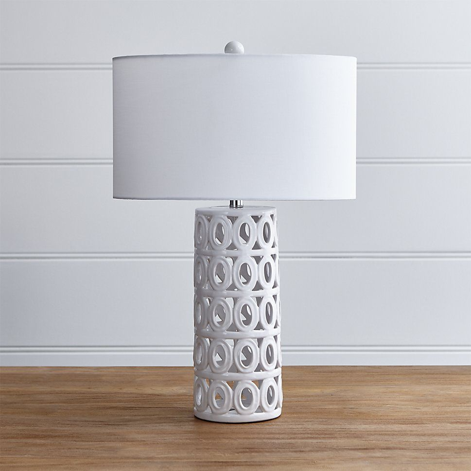 Cote White Ceramic Table Lamp Ceramic table lamps, Table
