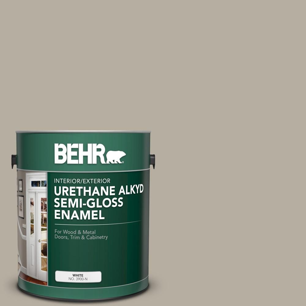 BEHR 1 gal. #N320-4 Camping Tent Urethane Alkyd Semi-Gloss Enamel Interior/Exterior Paint-390001 - The Home Depot