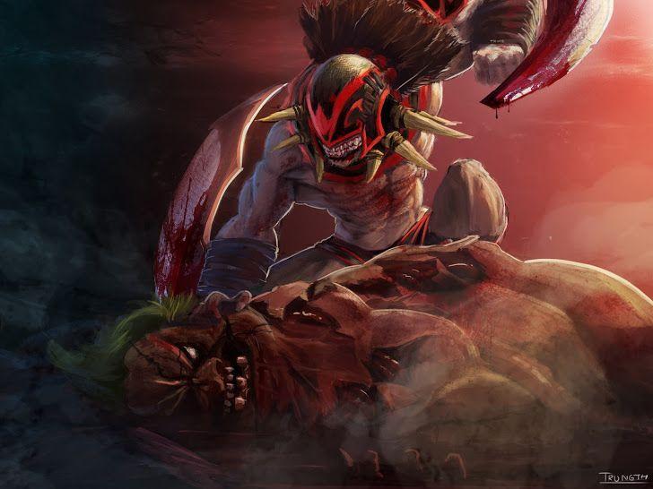 Strygwyr Bloodseeker Vs Pudge The Butcher Clash Dota 2 Hero Hd