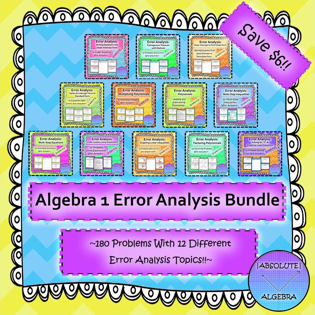 Algebra 1 Errorysis Bundle