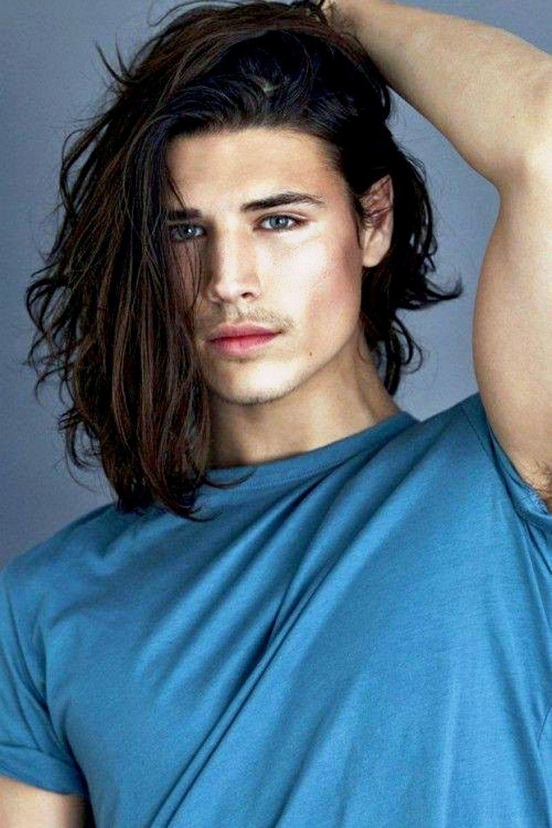 Azure Depths  Long hair male model, Long hair styles men, Long