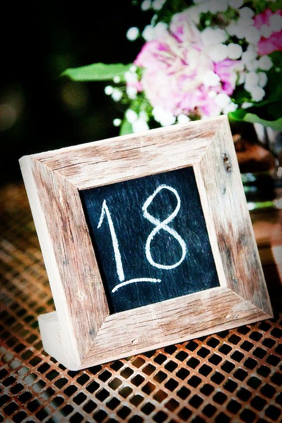 Small Framed Chalkboard | Wedding | Pinterest | Table numbers ...