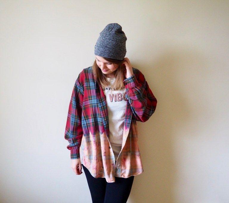Dip Dye Flannel: a DIY you can wear in 2020 | Custom ...