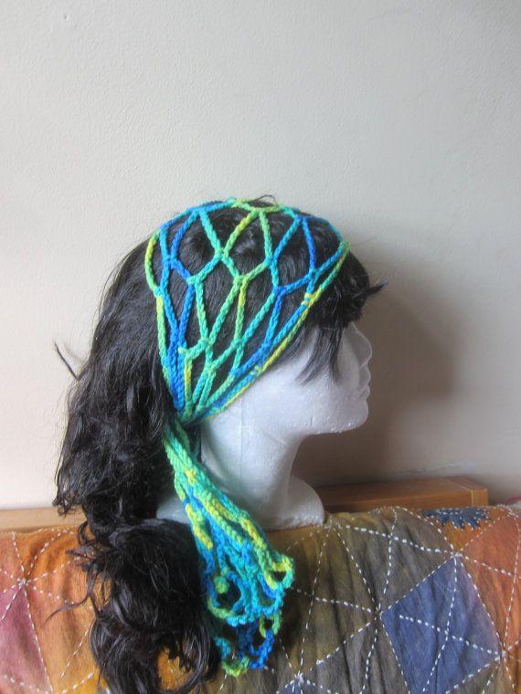 CROCHET BOHO HEADBAND, gypsy headband, festival headband, Loc ...