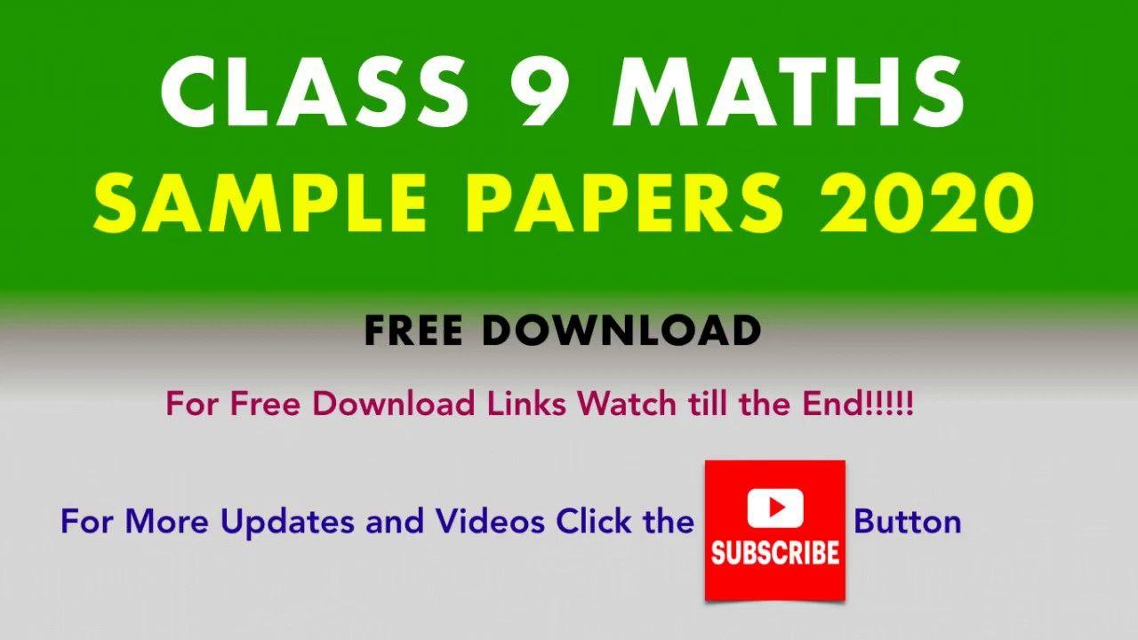 Class 9 Maths Sample Papers Cbse Board 2020 Sample Paper Math Question Paper [ 720 x 1280 Pixel ]