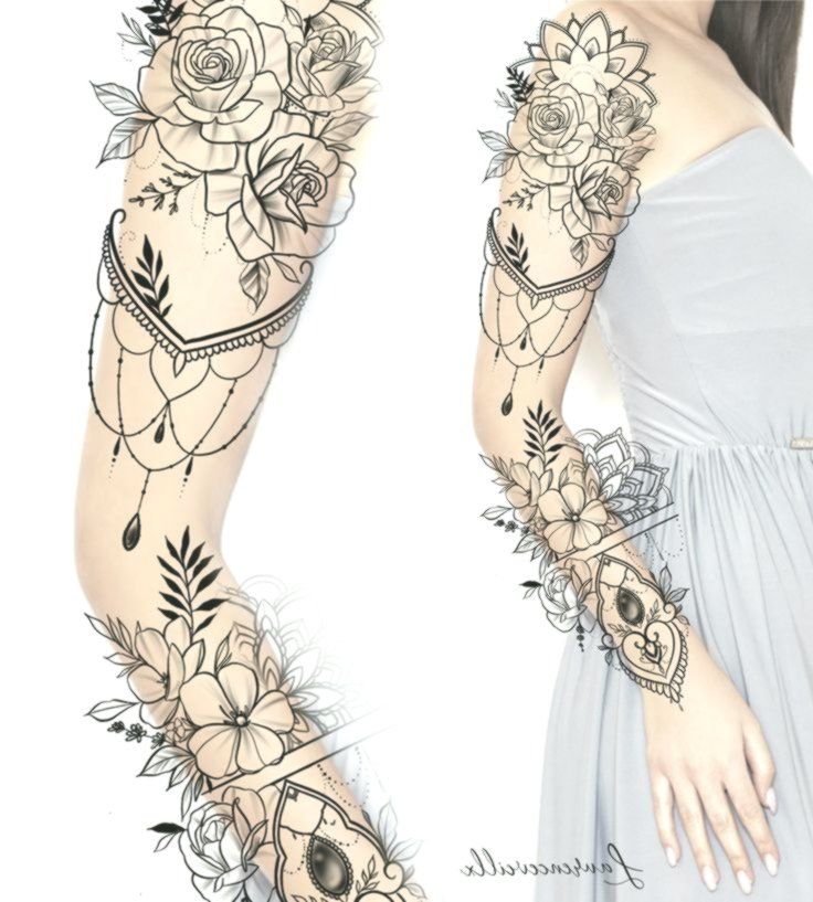 Frauen-Tätowierungs-Hülsen-Ideen entwerfen Tattoo Design – Laurenceveillx #flo…