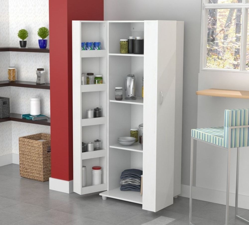 Tall Kitchen Cabinet Storage White Food Pantry Shelf Cupboard Wood Organizer 747925156015 Ebay Kitchen Cabinet Storage Tall Kitchen Storage Kitchen Cupboard Storage