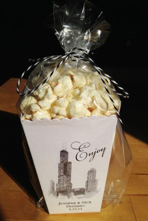 Chicago Mini Popcorn Box Wedding Favor Sample By Ericksondesign 1 25