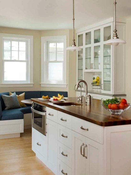 Brown Quartz Countertop With White Cabinetry Kitchen Redesign