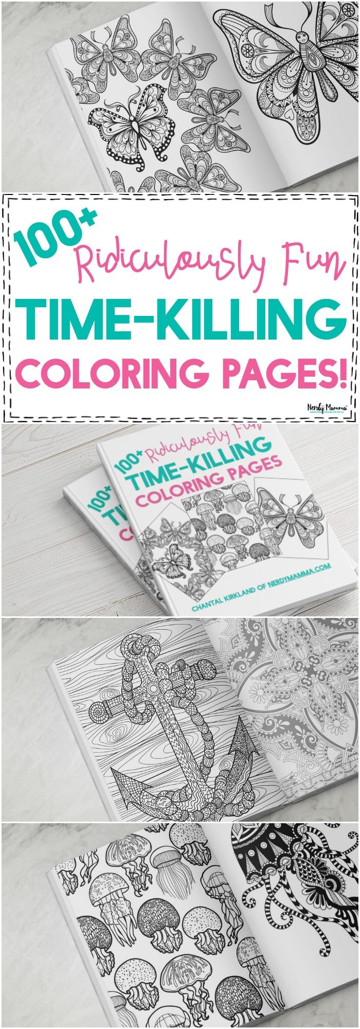 100 ridiculously fun time killing coloring pages coloring