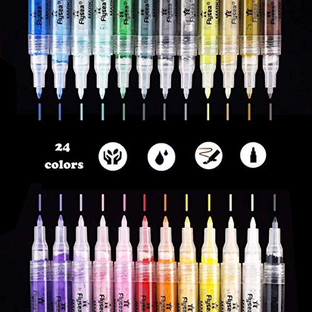 KDSSTTR Acrylstifte Marker Stifte permanent Marker 24