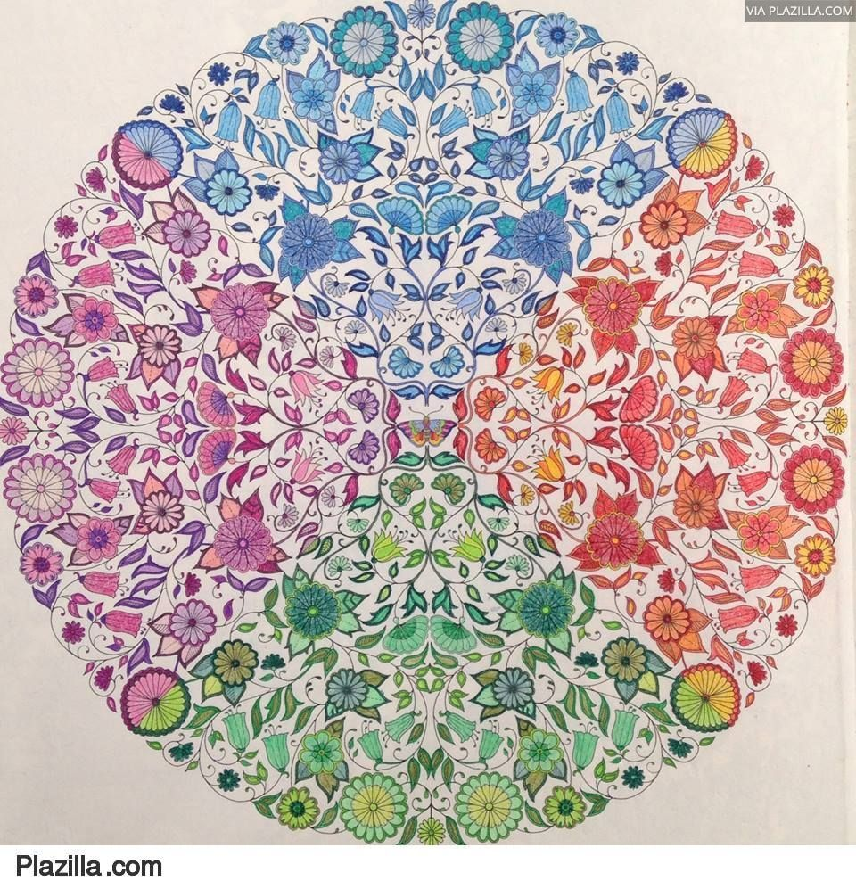 Zendoodle coloring enchanting gardens - Colouring In For Big Kids
