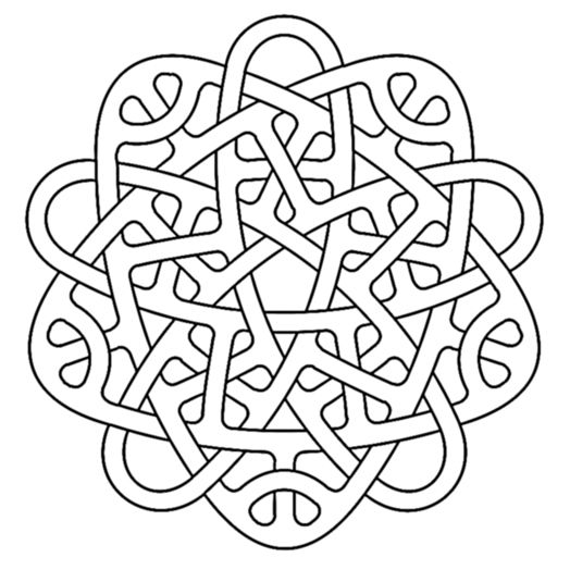 penta celtic knotwork | celticos | Pinterest | Celta, Nudo celta y ...