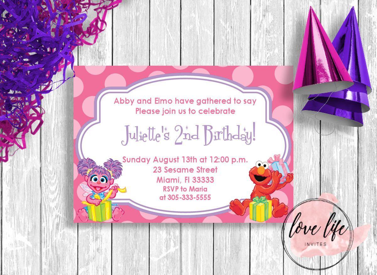 Abby Cadabby Birthday Invitation | Love Life Invites | Pinterest ...