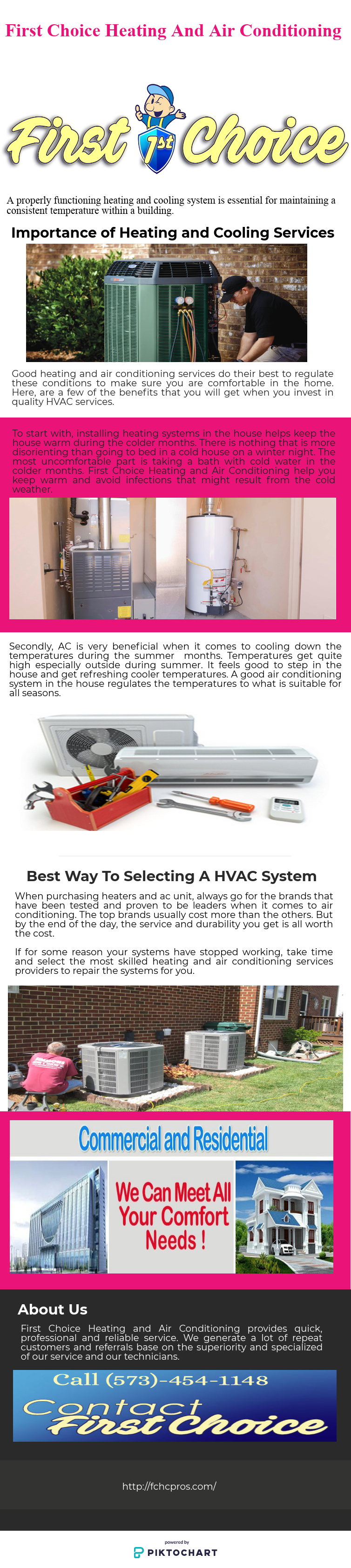 First Choice Heating And Air Conditioning Services Do Their Best To Regulate The Air Conditioning Services Hvac