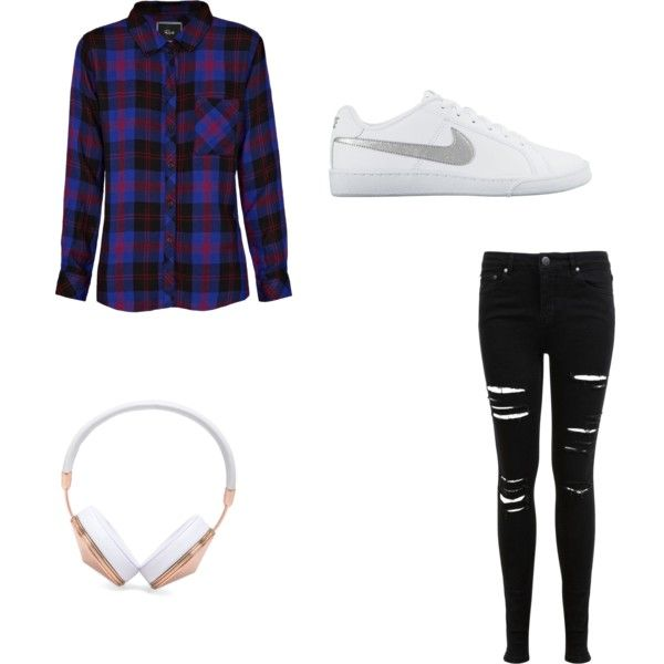 Minimalist by ashynbrown on Polyvore featuring polyvore fashion style Rails Miss Selfridge NIKE Frends