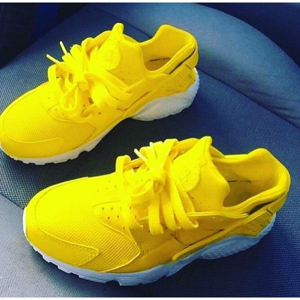 191c9e1357a4 Adults Lemon Zest Nike Air Huarache Lemon Huarache Nike Huarache... ( 185)  ❤ liked on Polyvore featuring shoes