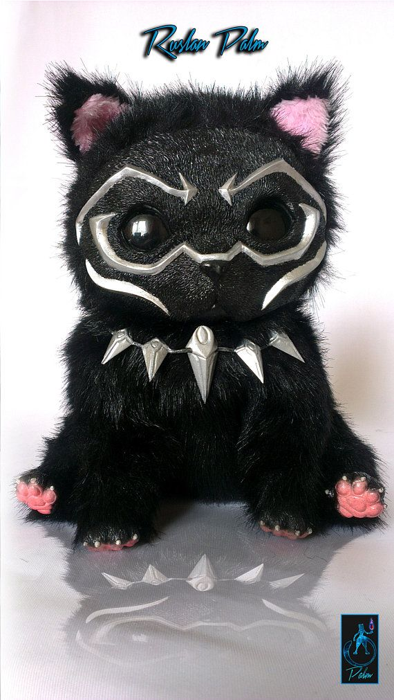 Black Panther Doll stuffed animal creature for decoration