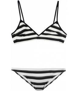 striped bikini.