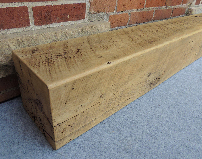 Barn Beam Fireplace Mantel 64 X 8 X 8 Solid Wood Mantel