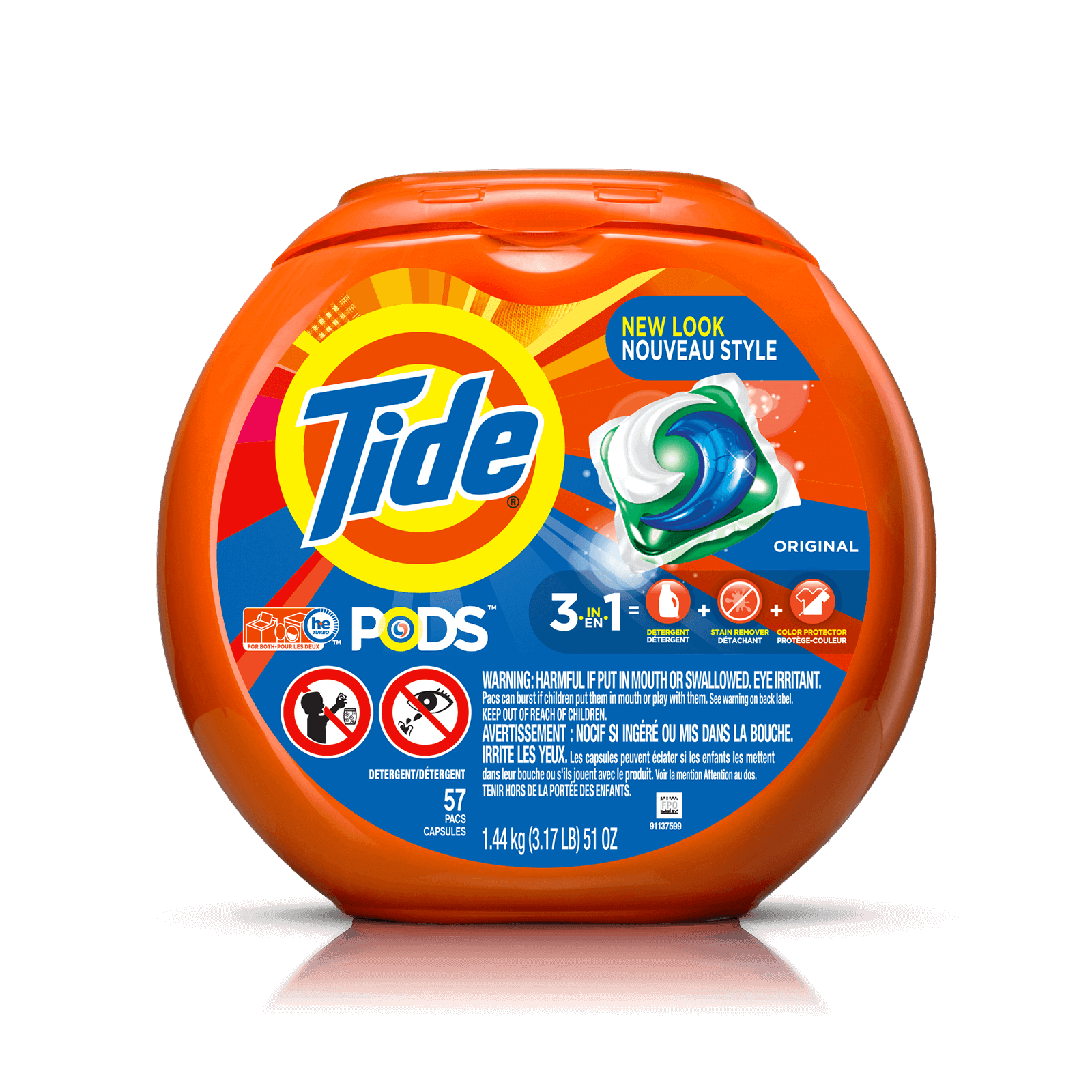 Tide Originla Laundry Detergent Pods Packaging Cleaning Tide