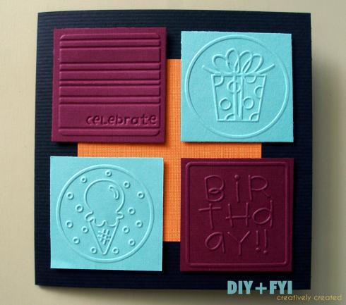 Diy Embossed Birthday Card Embossed Cards Cards Handmade Birthday Cards