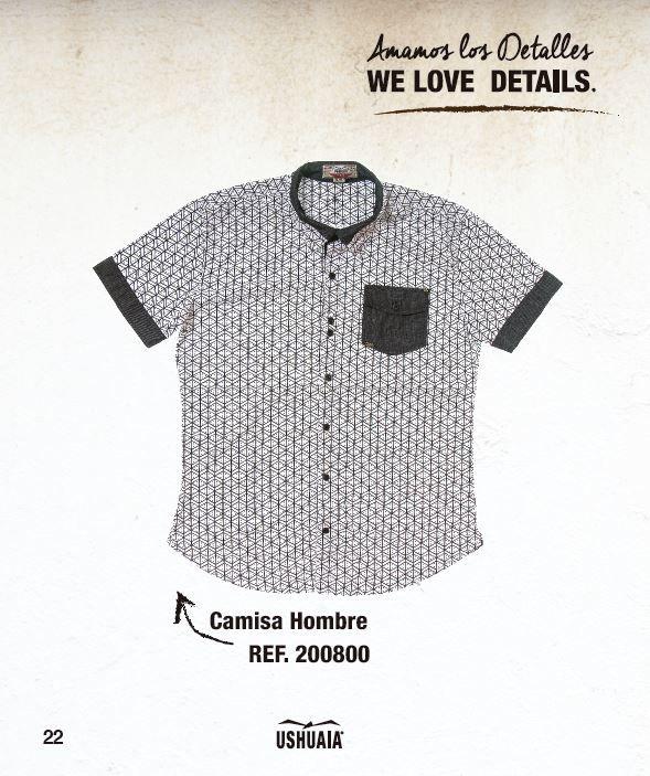 Camisa Hombre  Ref: 200800 Tallas: S-M-L-XL