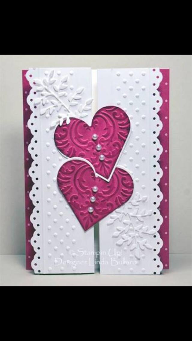 heart designed card idea - Pinterest Valentines Cards