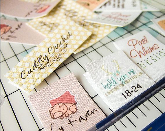 Fold-over Custom Fabric Labels or Tags — Custom Sizes — Your Logo ... : personalized fabric labels for quilts - Adamdwight.com