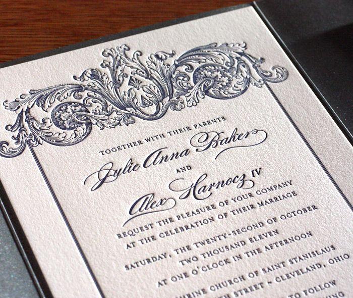 Keri letterpress wedding invitation by invitations by ajalon keri letterpress wedding invitation by invitations by ajalon filmwisefo
