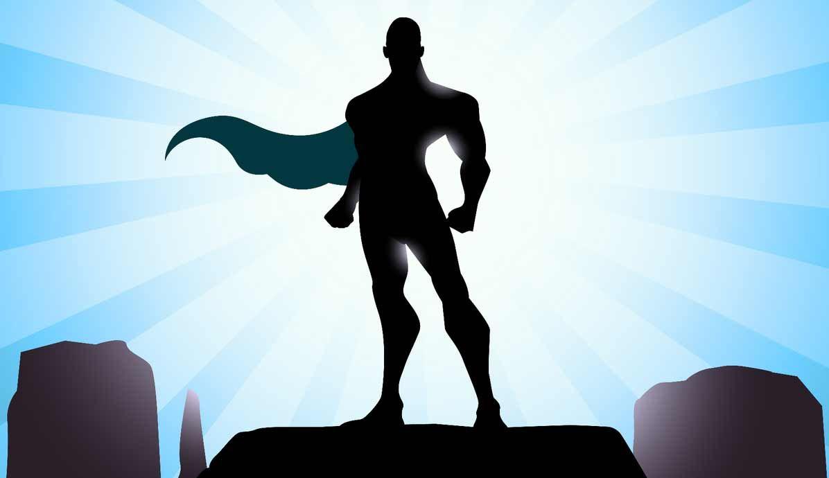 Businessman Super Hero Shadow Superhero Superhero Silhouette Hero