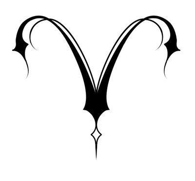 335bb46e68eb5 Aries Zodiac Tribal Tattoo   Aries Tribal Tattoo Design On A White  Background   Tattooshunt.com