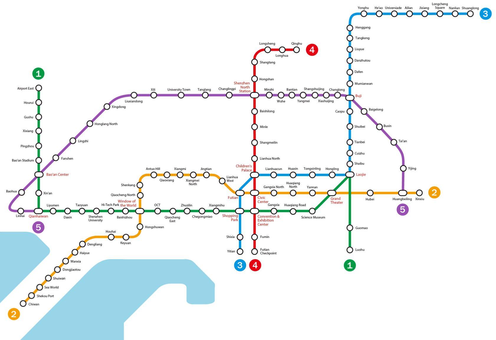 Shenzhen Subway Map Subway Map Beijing Subway Map Beijing Subway