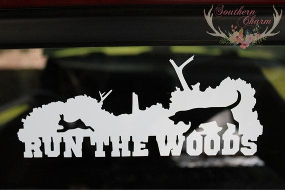 run the woods rabbit hunting decal by xosoutherncharm on
