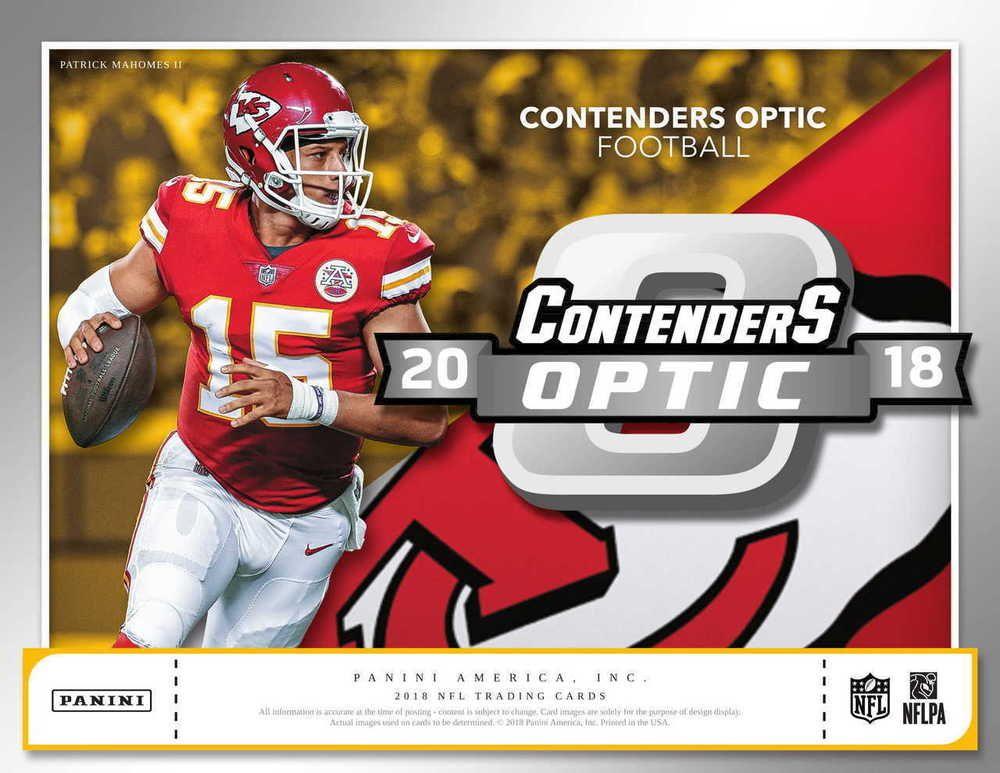 2018 Panini Contenders Optic Football Hobby Box 2 Autos
